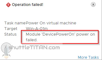 "PCI Passthrough – ""Module 'DevicePowerOn' power on failed"