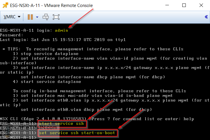 Quick Tip: Enable/Disable a service e.g. SSH/SNMP to persist on NSX-T EDGE VM reboots