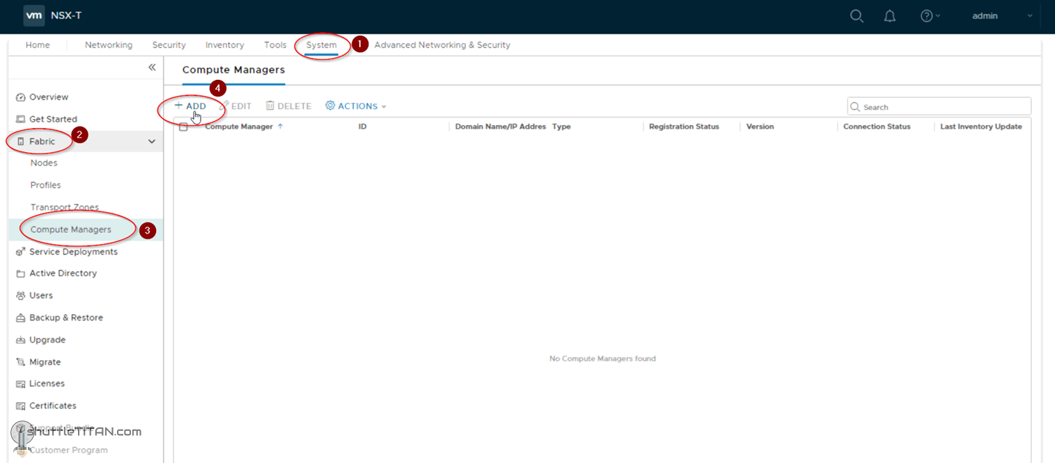 NSX-T Installation Series: Step 2 – Add a Compute Manager