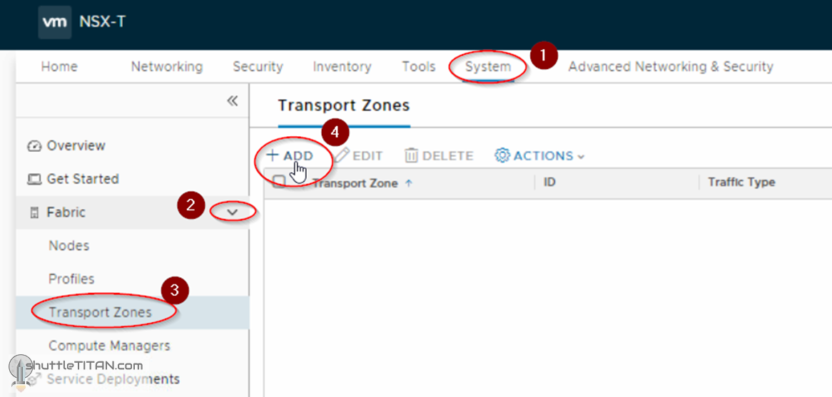 NSX-T Installation Series: Step 6 – Create Transport Zones