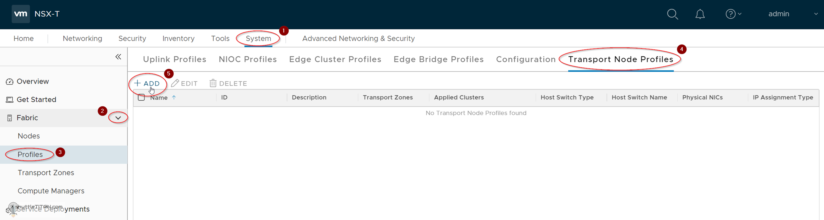 NSX-T Installation Series: Step 8 – Create Transport Node Profile