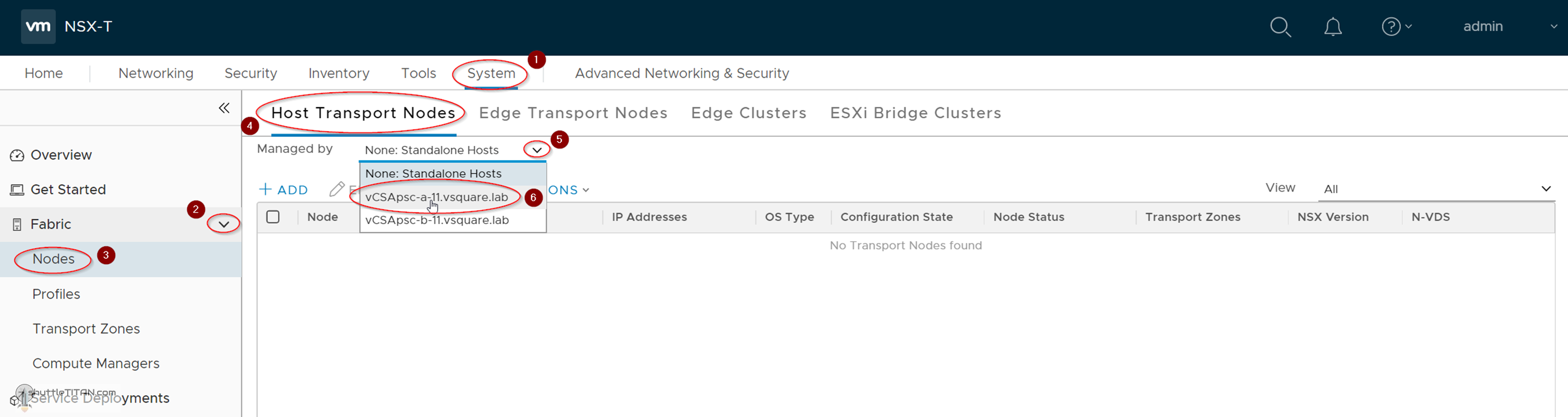 NSX-T Installation Series: Step 9 – Configure Host Transport Node