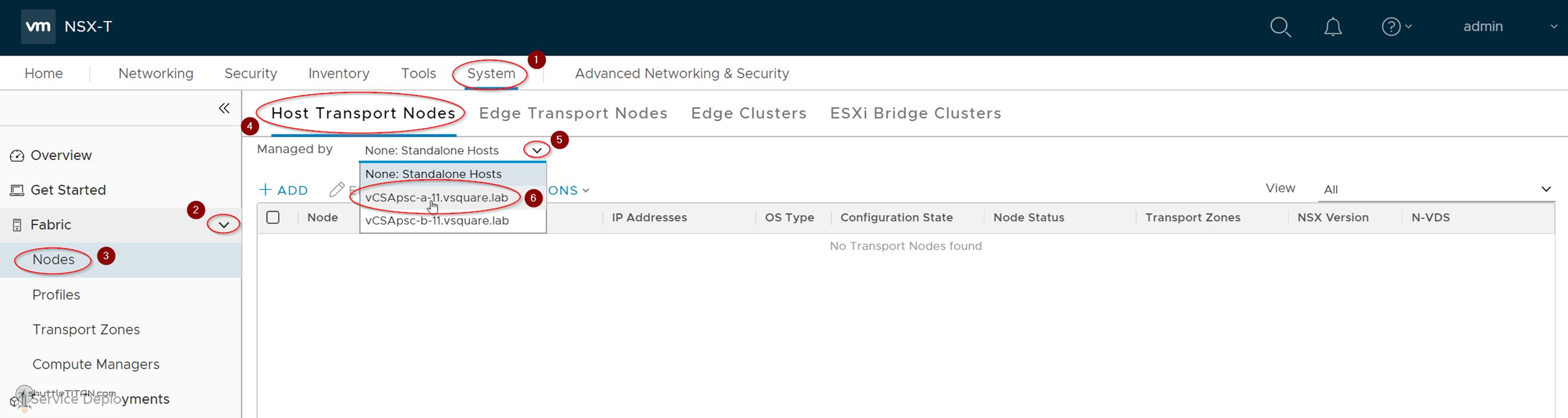 NSX-T Installation Series: Step 9 – Configure Host Transport Node