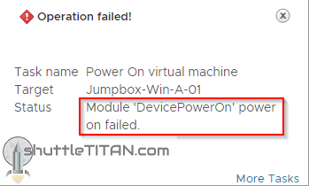 """PCI Passthrough – """"Module 'DevicePowerOn' power on failed….Device x:y.z is already in use"""""""