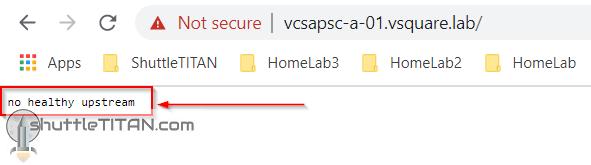 "vCenter GUI 'error' – ""no healthy upstream"", vCenter server (vmware-vpxd) service would not start!"